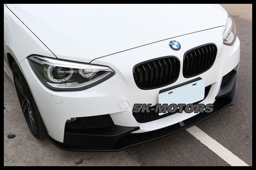 painted black front lip spoiler for bmw f20 f21 m135 125i. Black Bedroom Furniture Sets. Home Design Ideas