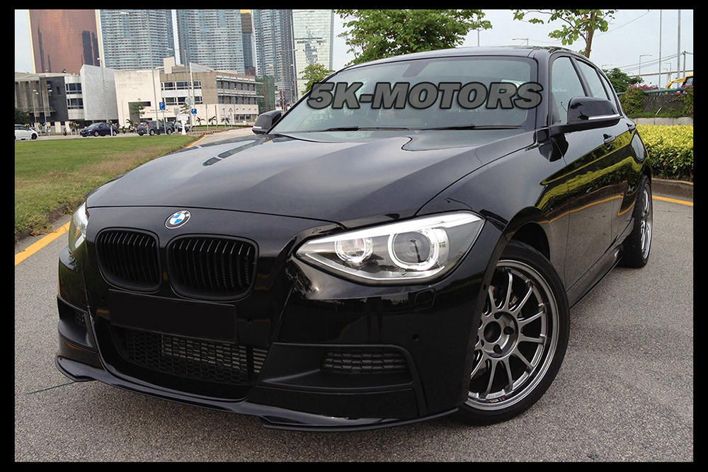 performance matte black front lip spoiler for bmw f20 f21. Black Bedroom Furniture Sets. Home Design Ideas