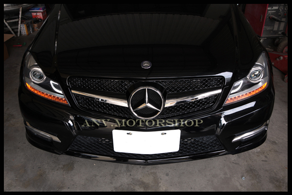 2012-2013 W204 Aftermarket Projector Headlights - with the