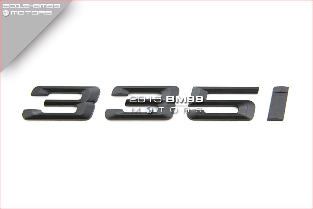 rear trunk lid matte 335i emblem badge letters for bmw e90. Black Bedroom Furniture Sets. Home Design Ideas