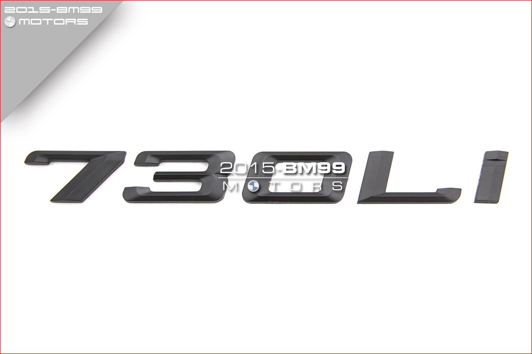 Matte Black 750i Rear Lid Trunk Letter Emblem Decal For BMW F01 F02 7-Series 750