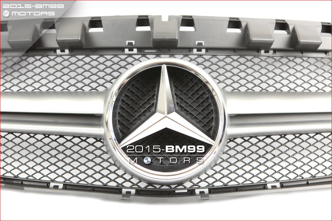 Black silver amg grille grill for mercedes benz w117 cla for Mercedes benz grills