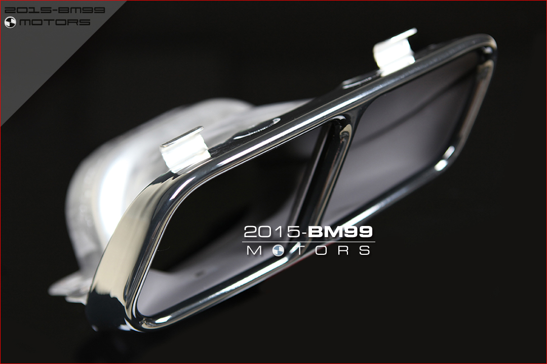 Mercedes benz black chrome exhaust muffler tips pipe quad for Mercedes benz exhaust